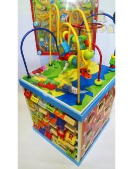 Дерев'яний багатофункціональний ігровий центр Будиночок (23061) - igs 23061