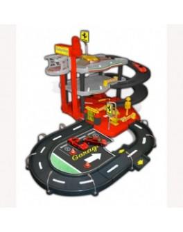 Игровой набор - ГАРАЖ FERRARI (3 уровня, 2 машинки 1:43) - KDS 18-31204