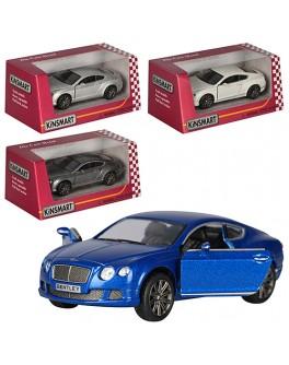 Машинка коллекционная Kinsmart Bentley Continental GT Speed, 4 цвета (KT 5369 W)