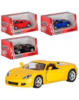 Машинка коллекционная Kinsmart Porsche Carrera, 4 цвета (KT 5081 W)