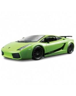 Автомодель - LAMBORGHINI GALLARDO SUPERLEGGERA (2007) (ассорти зеленый, оранжевый металлик, 1:24)