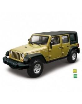Автомодель - JEEP WRANGLER UNLIMITED RUBICON (ассорти зеленый металлик, зеленый, 1:32) - KDS 18-43012