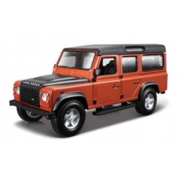 фото Автомодель - LAND ROVER DEFENDER 110 (ассорти белый, оранжевый металлик 1:32) - KDS 18-43029