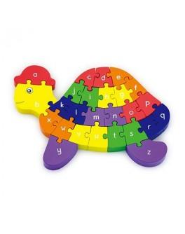 Деревянная игрушка пазл 3D Viga Toys Черепашка (55250)