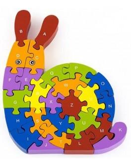 Деревянная игрушка 3D пазл Viga Toys Улитка (55252)