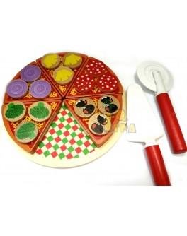 Деревянная игра Пицца на липучках (MD 1035)