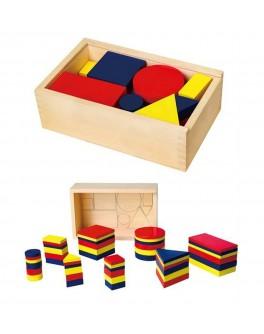 Дерев'яна гра Viga Toys Логічні блоки (56164) - afk 56164
