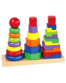 Дерев'яна пірамідка Viga Toys (50567) - afk 50567