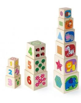Деревянные кубики Viga Toys Пирамидка (50392) - afk 50392