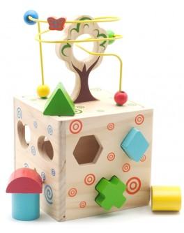 Деревянная игрушка Логический кубик. Развивающая игрушка Сегена