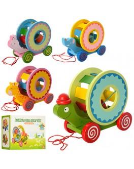 Деревянная игрушка сортер-каталка Животные (MD 0985) - mpl MD 0985