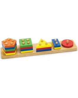 Деревянный сортер Viga Toys Геометрические фигуры (58558)
