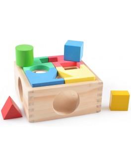 Деревянная игрушка Занимательная коробка-сортер, Мди