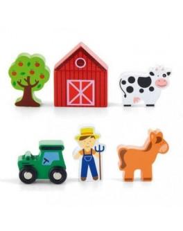 Деревянная игрушка доп. набор к ж/д Viga Toys Ферма (50812) - afk 50812