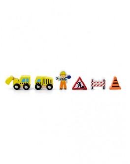 Деревянная игрушка доп. набор к ж/д Viga Toys Строители (50813)