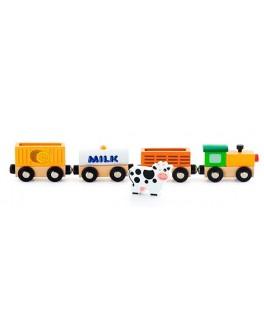 Деревянная игрушка доп. набор к ж/д Viga Toys Поезд-ферма (50821) - afk 50821