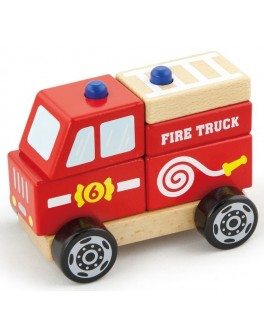 Дерев'яна іграшка Viga Toys Пожежна машина (50203) - afk 50203