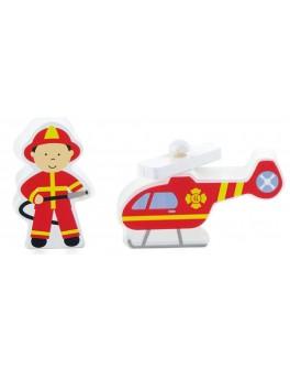 Деревянная игрушка доп. набор к ж/д Viga Toys Пожарная станция (50815) - afk 50815