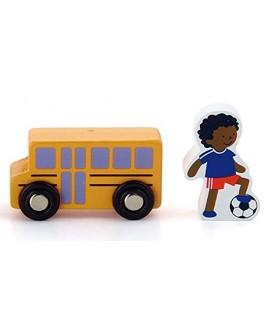 Деревянная игрушка доп. набор к ж/д Viga Toys Школа (50816) - afk 50816