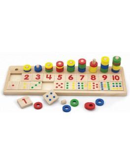 Деревянный сортер Viga Toys Учимся считать (59072)