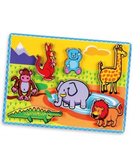 Деревянная рамка-вкладыш Viga Toys Животные (56435)
