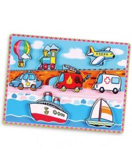 Деревянная рамка-вкладыш Транспорт Viga Toys (56436)