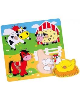 Деревянная рамка-вкладыш Viga Toys Ферма (59562)