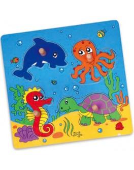 Деревянная рамка-вкладыш Viga Toys Море (59564) - afk 59564