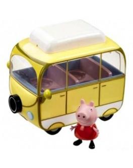 Игровой набор Peppa - ВЕСЕЛЫЙ КЕМПИНГ (автобус, фигурка Пеппы) Цена снижена! - KDS 15561 stok