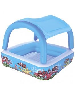 Детский надувной бассейн Bestway с навесом 147х147 см (52192) - mpl 52192