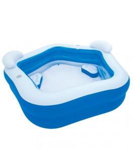 Надувной бассейн Bestway Геометрия с сиденьями 213х207х69 см (54153) - mpl 54153