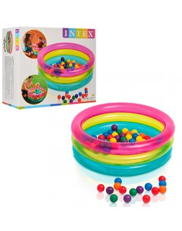 Надувной бассейн с шариками Intex Baby Ball Pit 86х25 см (48674) - mlt 48674