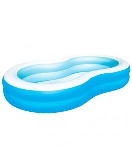 Семейный надувной бассейн Bestway Голубая лагуна 262x157x46 см (54117) - mpl 54117