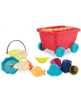Набор для игры с песком и водой Battat Тележка Манго (11 предметов) - KDS BX1594Z