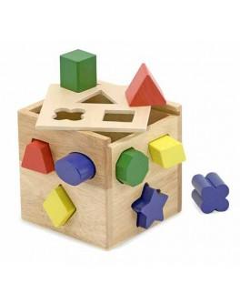 Деревянная игрушка Сортировочный куб Melissa Doug