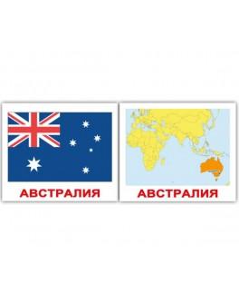 Карточки Домана мини Страны Флаги Столицы русский язык Вундеркинд с пеленок - WK 2100064096402