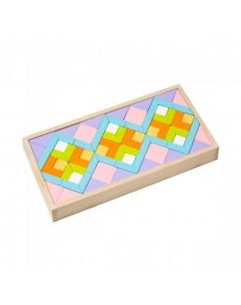 Деревянная мозаика Орнамент Cubika