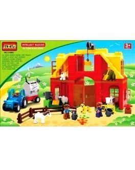 """Конструктор """"Ферма"""", животные, трактор - mlt 3188C"""