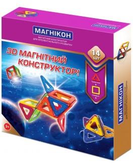 3D Магнитный конструктор Магникон на 14 деталей