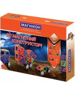 3D Магнитный конструктор Магникон на 40 деталей