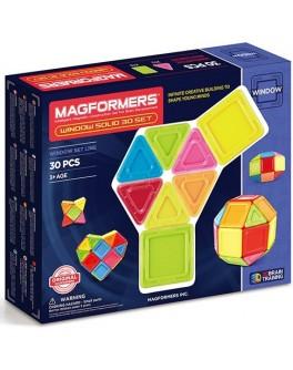 Магнитный конструктор Magformers 3D окошки, 30 элементов