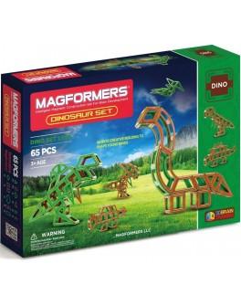 Магнитный конструктор Magformers Динозавры, 65 элементов