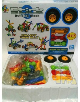 Конструктор Stick building block Транспорт 30 деталей и колеса (SY9910-11-12) - mpl SY9910-11-12