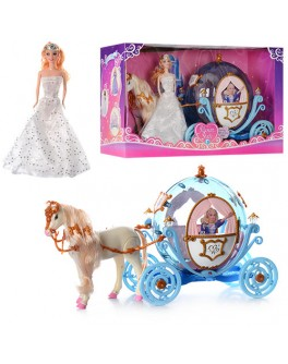 Карета с куклой и лошадкой (28911 B) - mpl 28911 B