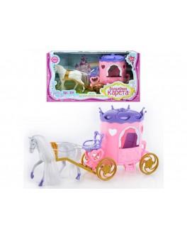 Игровой набор Карета с лошадью - ves 315