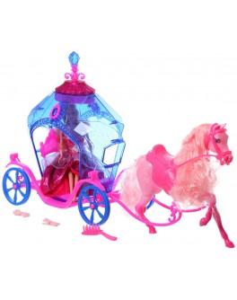 Кукла Ginni с каретой и лошадью - ves 83142