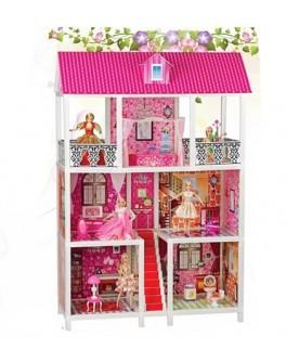 Детский кукольный домик для Барби, высота 136 см  5 комнат (66885) - mpl 66885