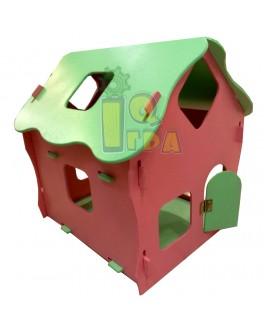 Деревянный домик для кукол большой разборной - alb Д076