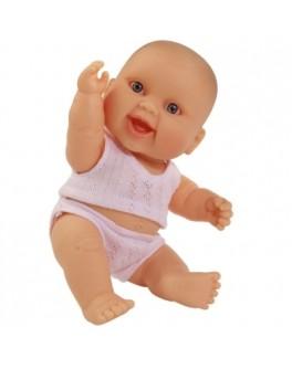 Кукла-пупс Младенец девочка европейка в трусах и майке Paola Reina 22 см - Kklab 01013