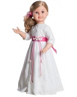 Шарнирная кукла Альма в белом платье Paola Reina, 60 см - kklab 06520